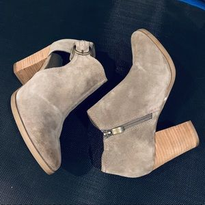 Michael Shannon Suede Cutout Booties